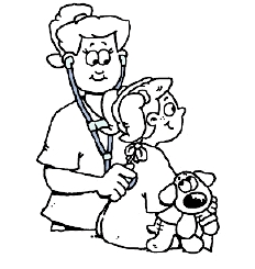 Coloring Pages Doctor Nurse | Coloring Page